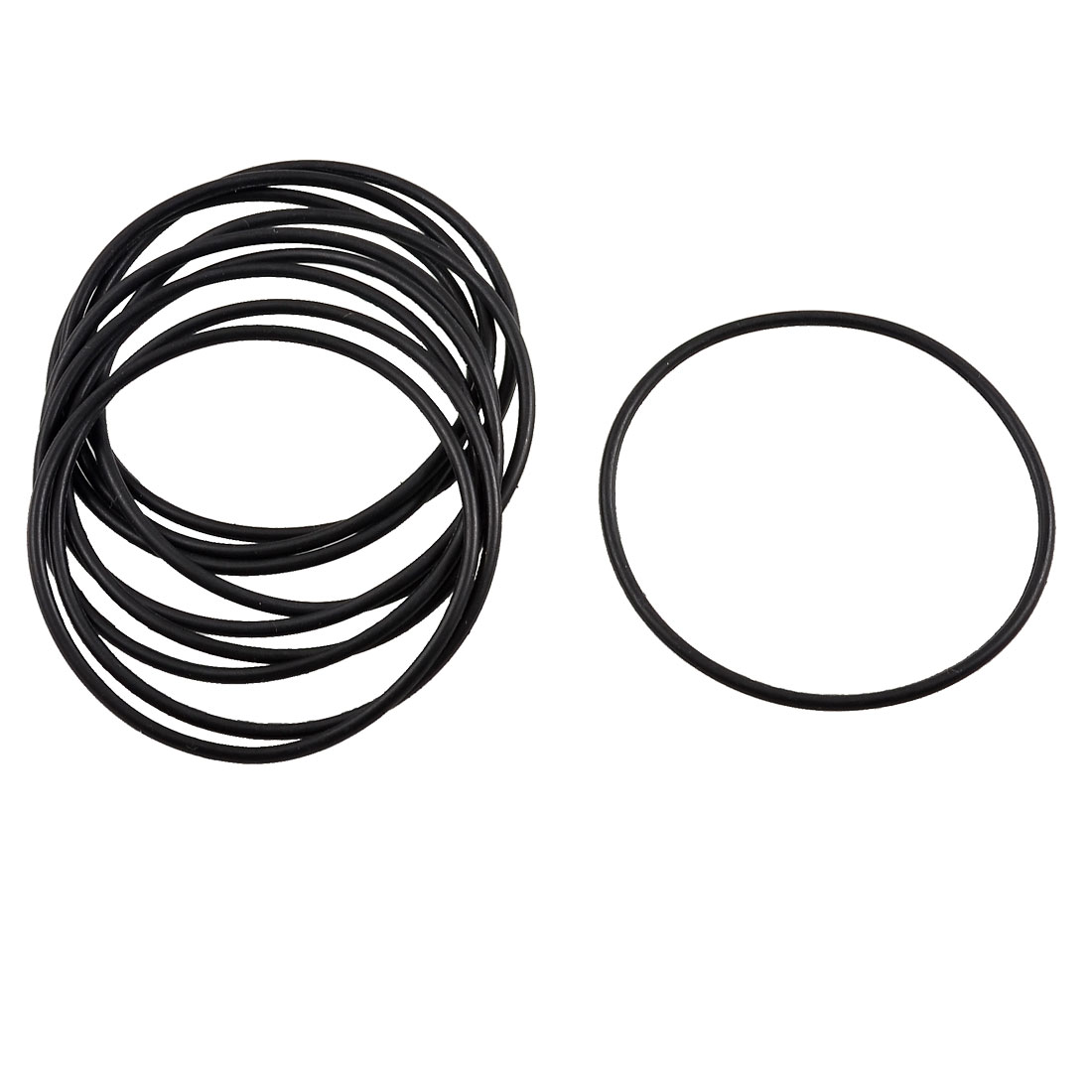 10 Pcs Black Rubber O Ring Oil Filter Seal Gaskets 45mm x 1.8mm