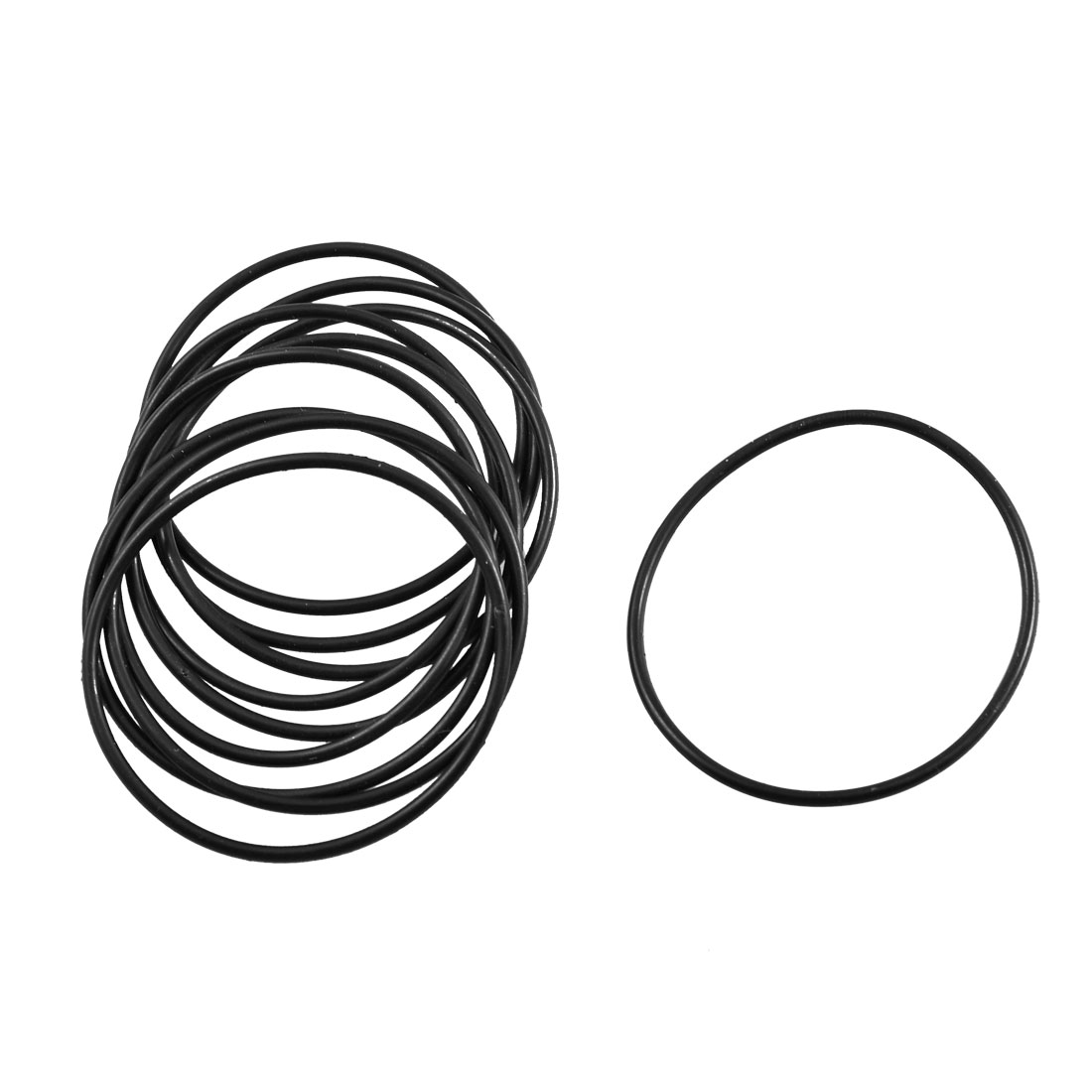 10 Pcs Black Rubber Flexible Oil Sealing O Ring Gasket 41.2mm x 1.8mm