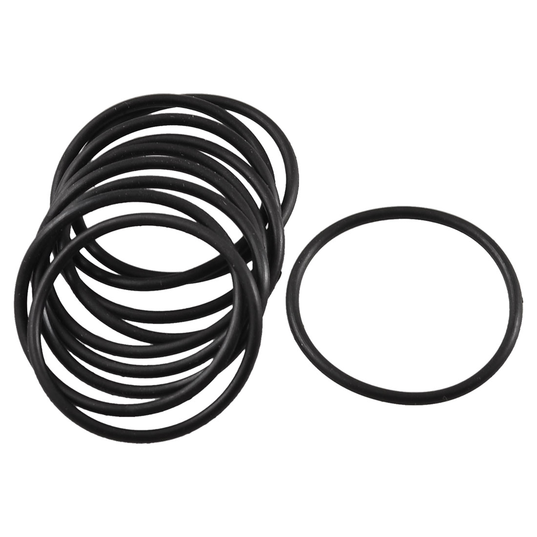 10 Pcs Black Rubber Flexible Oil Seal O Ring Gaskets 28mm x 1.8mm