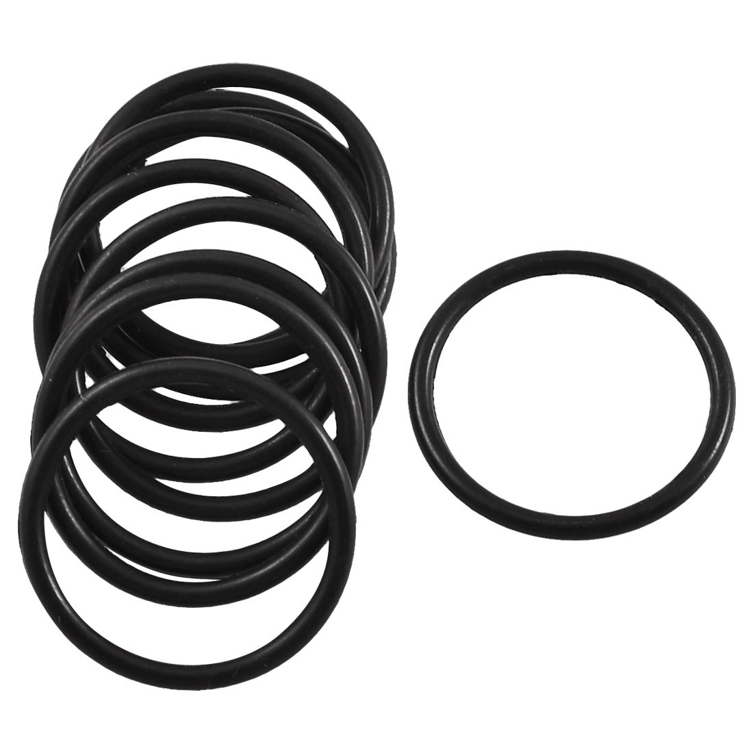 10 Pcs Black Rubber O Shaped Oil Seal Ring Sealing Washer 19mm x 1.8mm