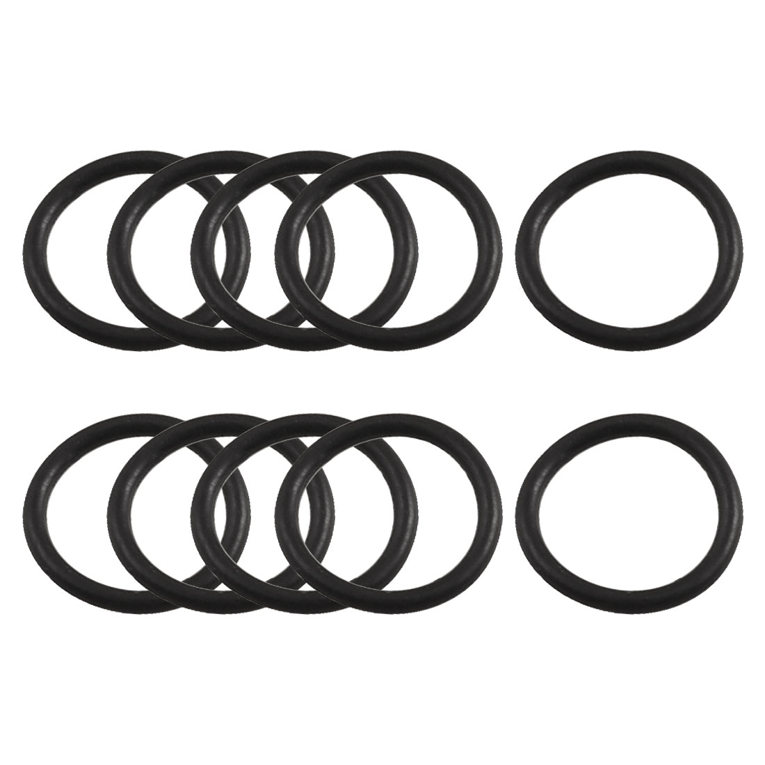 10 Pcs Black Rubber Oil Seal O Ring Gasket Washer 14mm x 11mm x 1.5mm