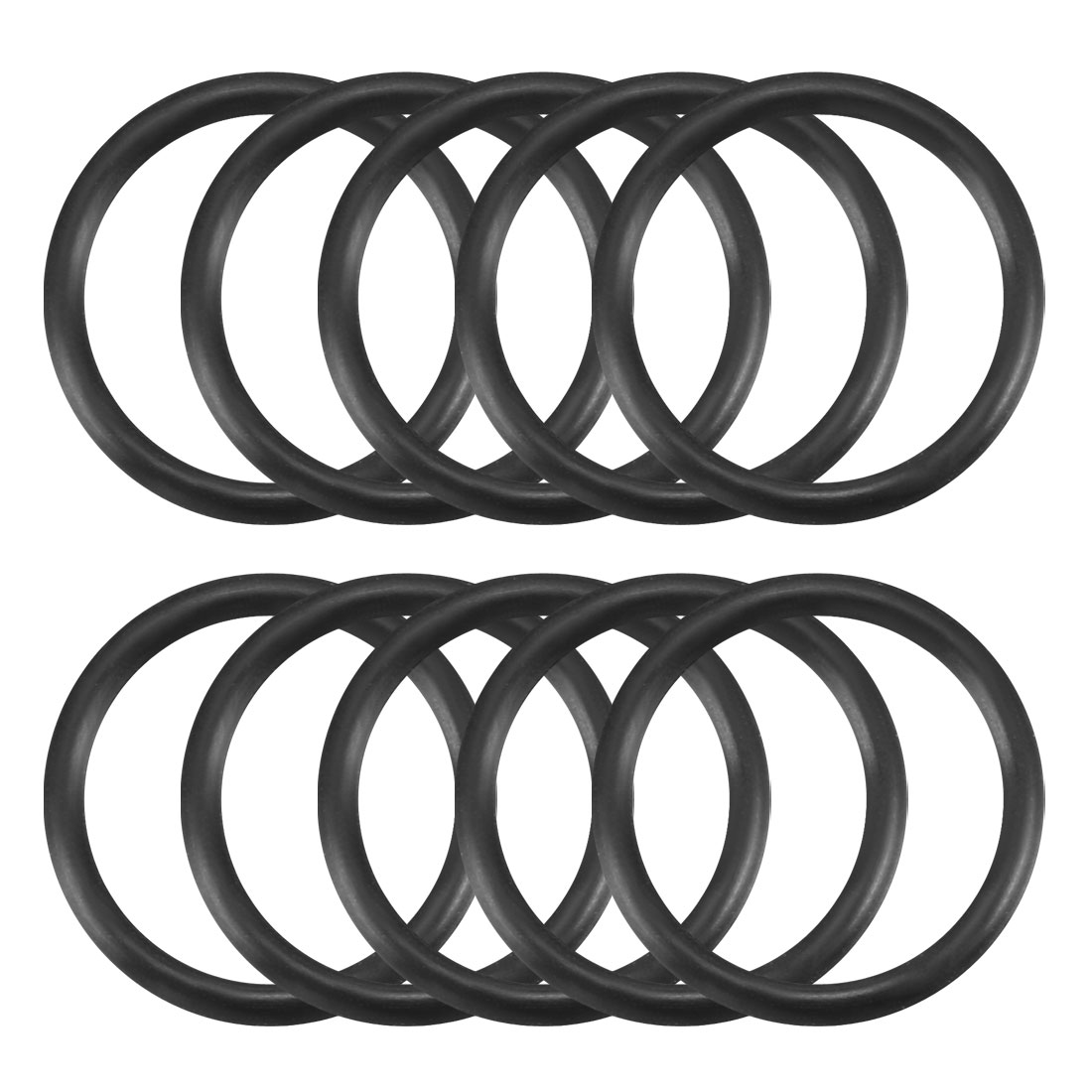 10 Pcs Black Rubber O Ring Oil Seal Gasket Washers 15mm x 12mm x 1.5mm
