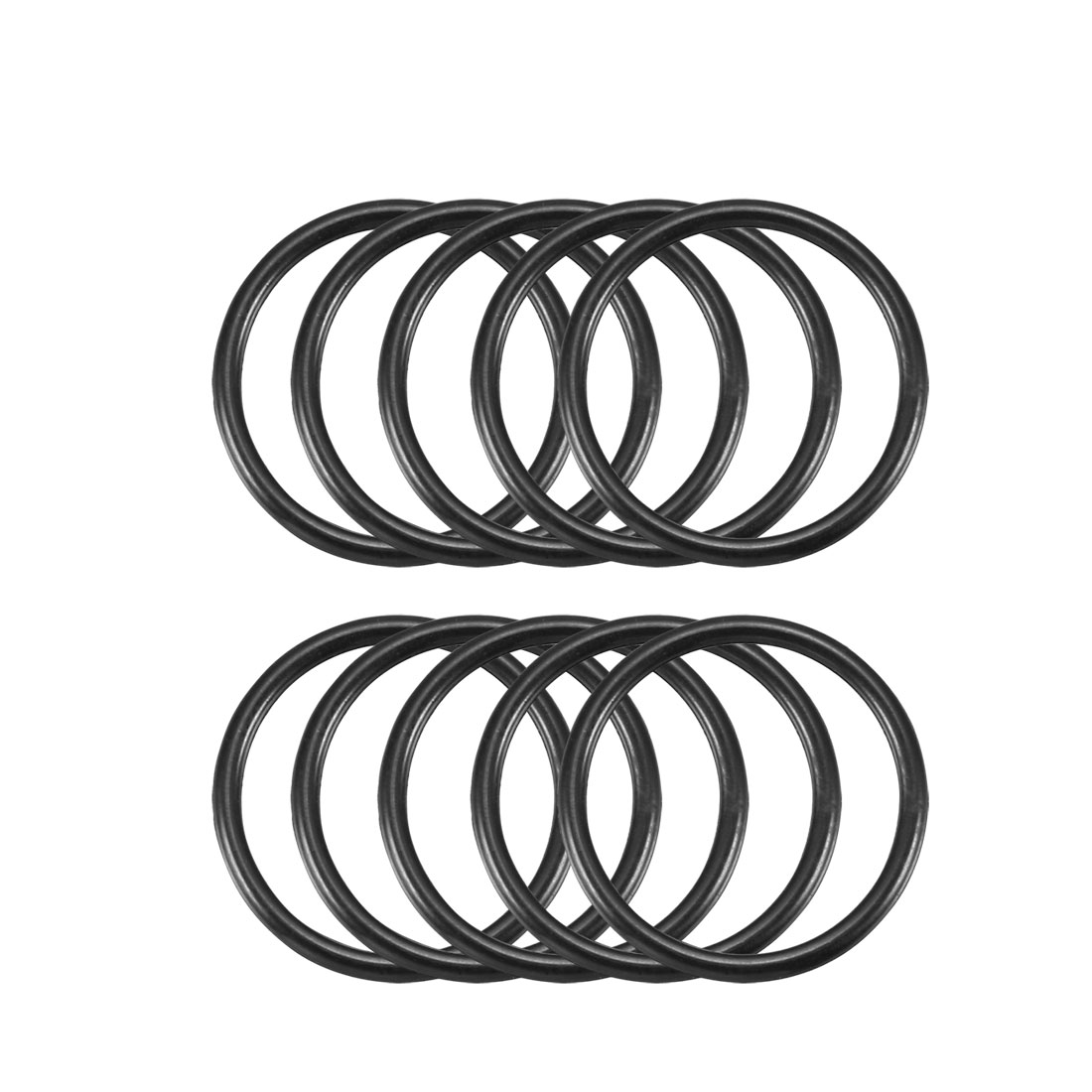 10 Pcs Black Rubber Oil Sealing O Ring Gasket Washer 19mm x 16mm x 1.5mm