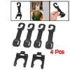 Black Plastic Auto Car Hanger Hook Water Bottle Shopping Bag Holder 4 Pcs
