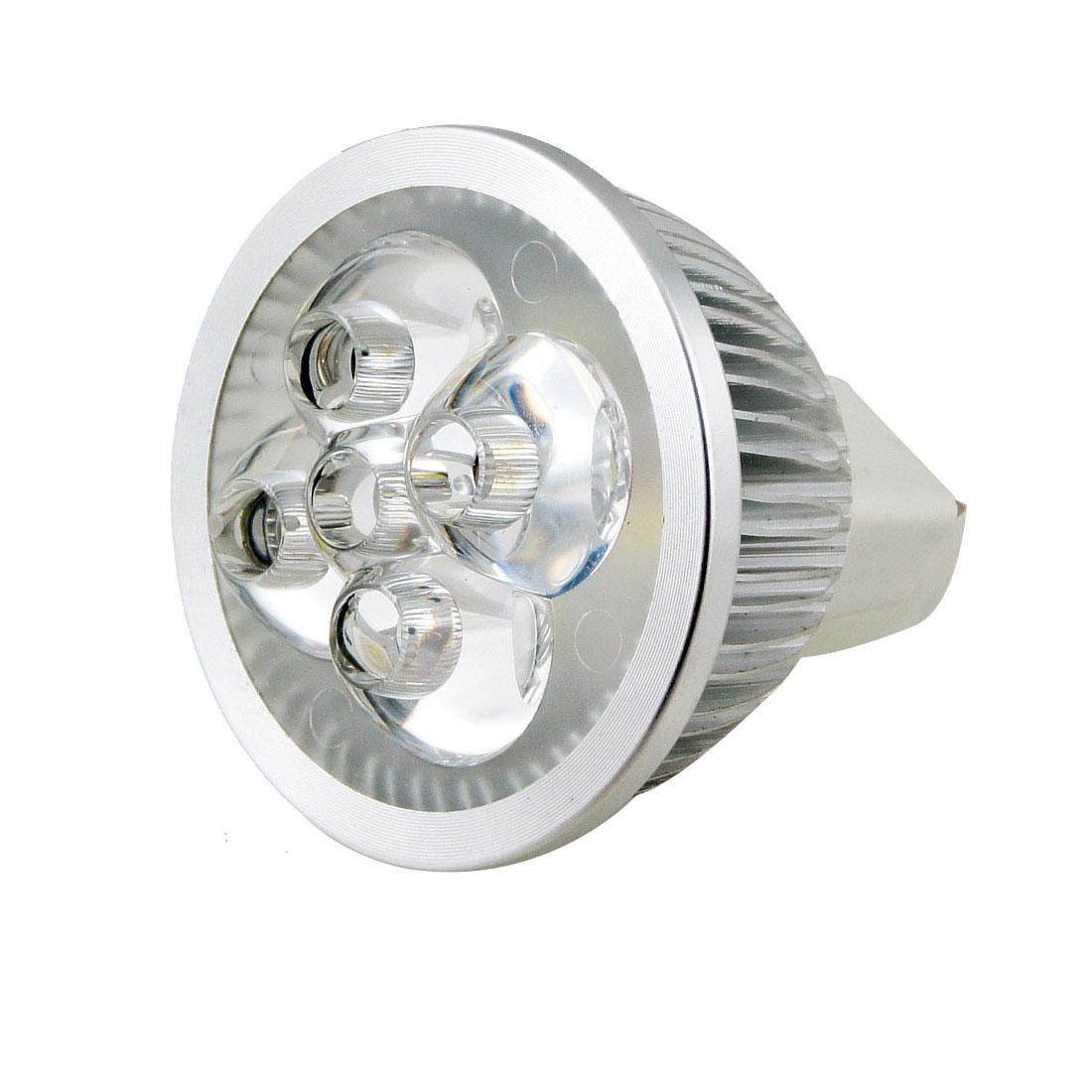 MR16 Base 4x1W LED Pure White Lamp Bulb Spotlight Downlight 6000K 12V