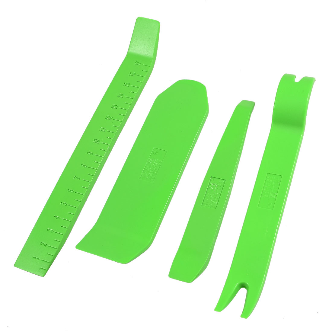 Car Audio Radio 4 in 1 Plastic Trim Molding Pry Bar Removal Tool Green