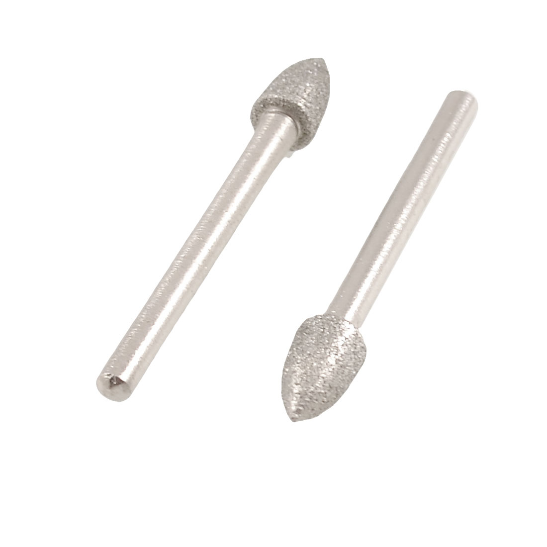 2pcs 6mm Taper Tip Grinding Bits Polisher Diamond Mounted Points
