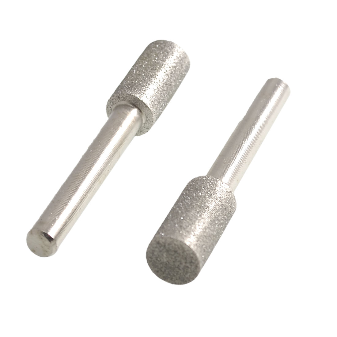 2 Pcs 6mmx10mm Cylindrical Tip Polisher Diamond Mounted Points File