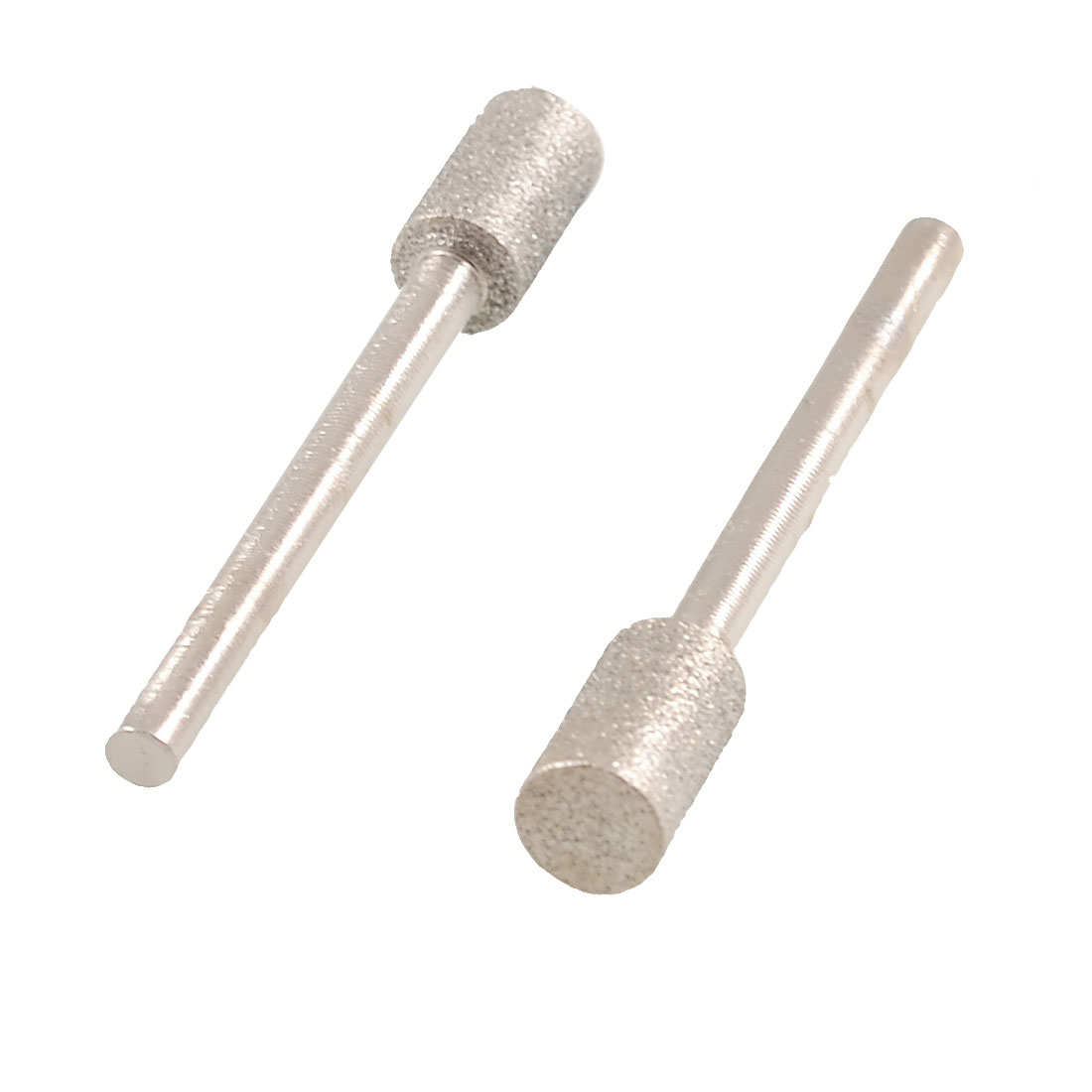 2 Pcs 3mm Shank 6mm Cylindrical Head Diamond Mounted Points
