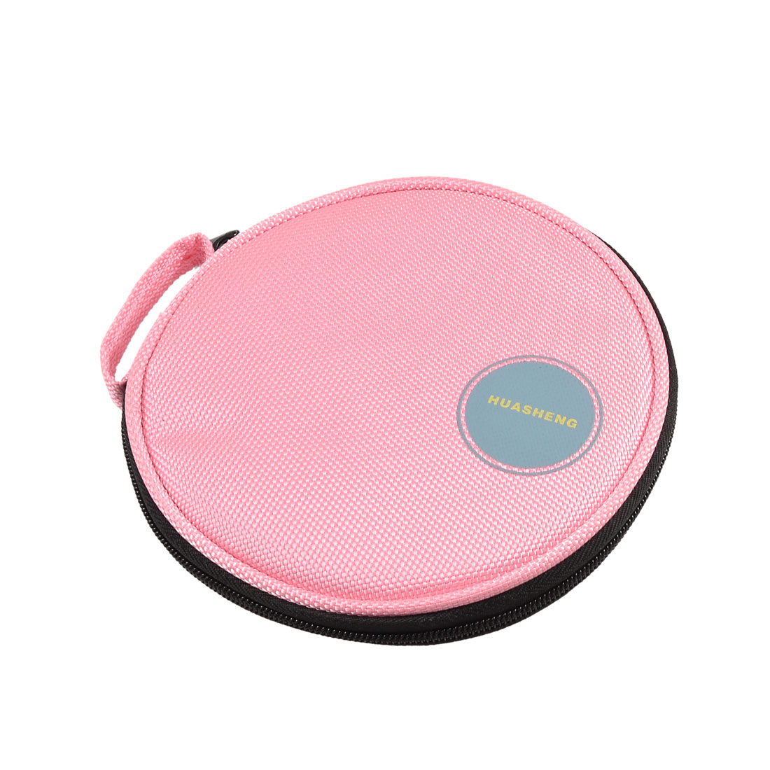 Hand Carrying DVD CD Discs Holder Pocket Bag Organizer Pink