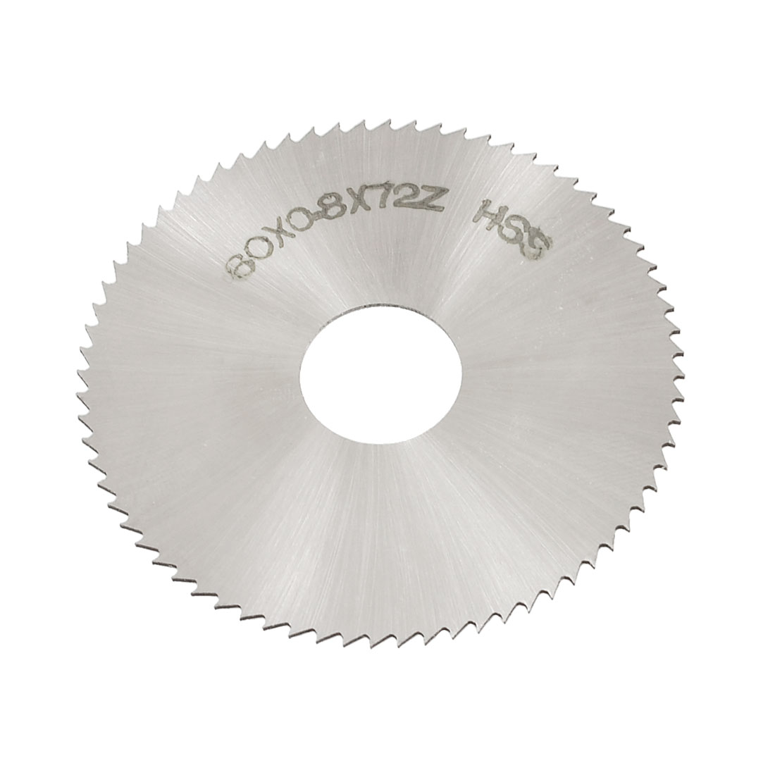 60mm x 0.8mm x 16mm 72T HSS Steel Round Slitting Saw Cutter