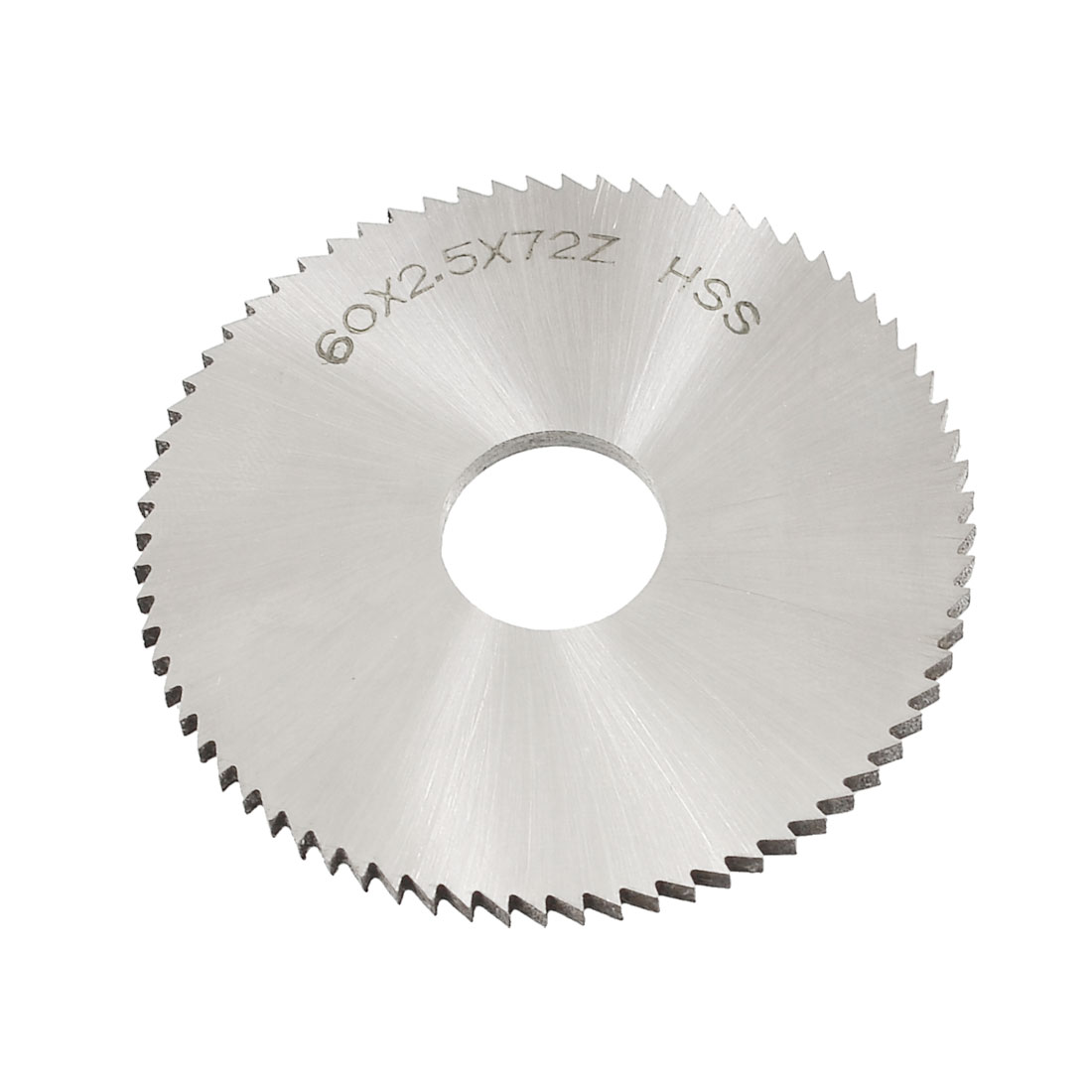 60mm x 2.5mm x 16mm 72T HSS Steel Round Slitting Saw Cutter