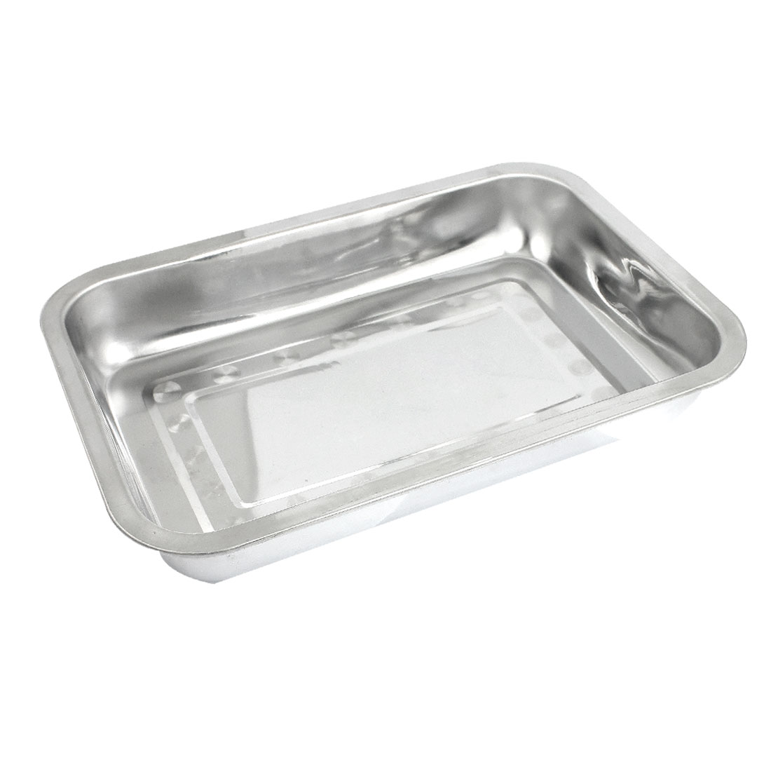 Camping Picnic Stainless Steel Dinner Plate Dish Tray 32cm x 22cm x 4cm
