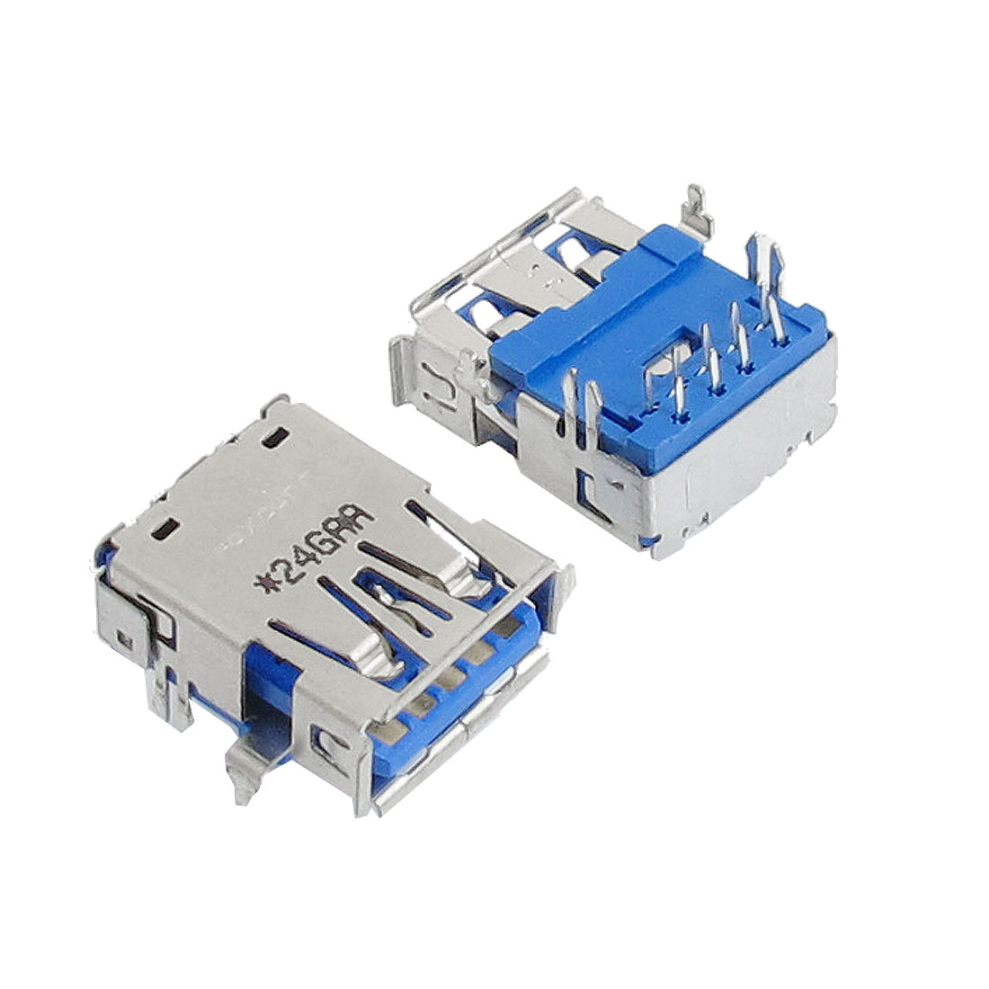 2 Pcs USB 3.0 Jack Connectors Type A Female 90 Degree