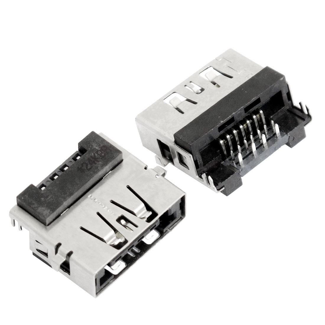 2 Pcs Right Angle DIP Female ESATA + USB Socket Connectors