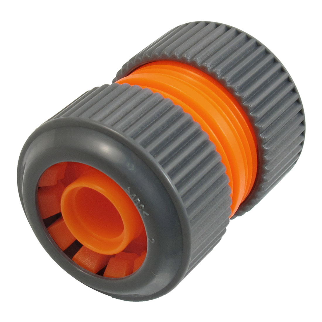 16mm x 24mm Water Hose Quick Connector Coupling Disconnect Gray Orange