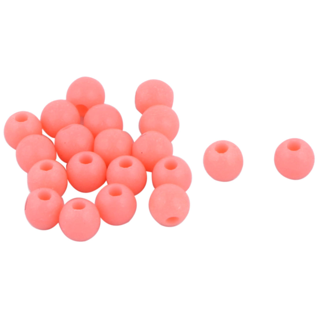 20 Pcs Salmon Hard Plastic Luminous Round Shaped Beads Fishing Lures