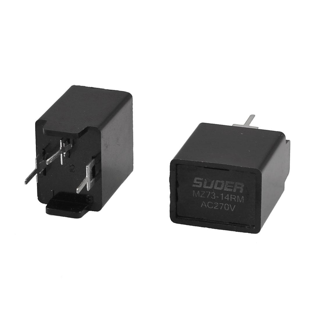 MZ73-14RM 1.8K Ohm AC 270V 3 Pin Black Degaussing Resistor CRT 2 Pcs