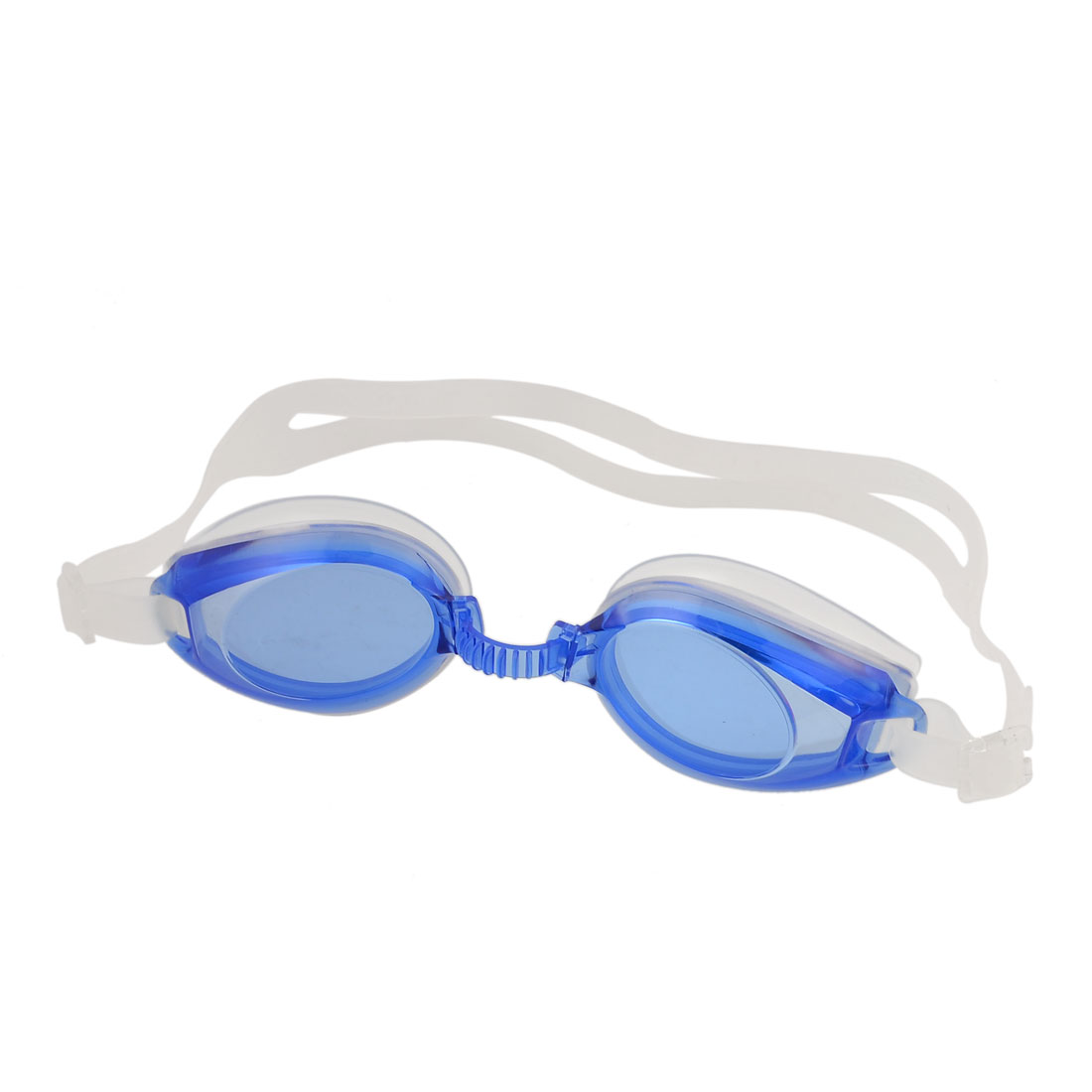 Children Clear Blue Frame Stretchy Strap Swimming Goggles Spectacles