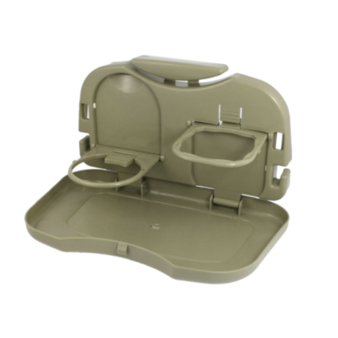 New Khaki Car Auto Tray Food Table Desk Stand Drink Cup Holder