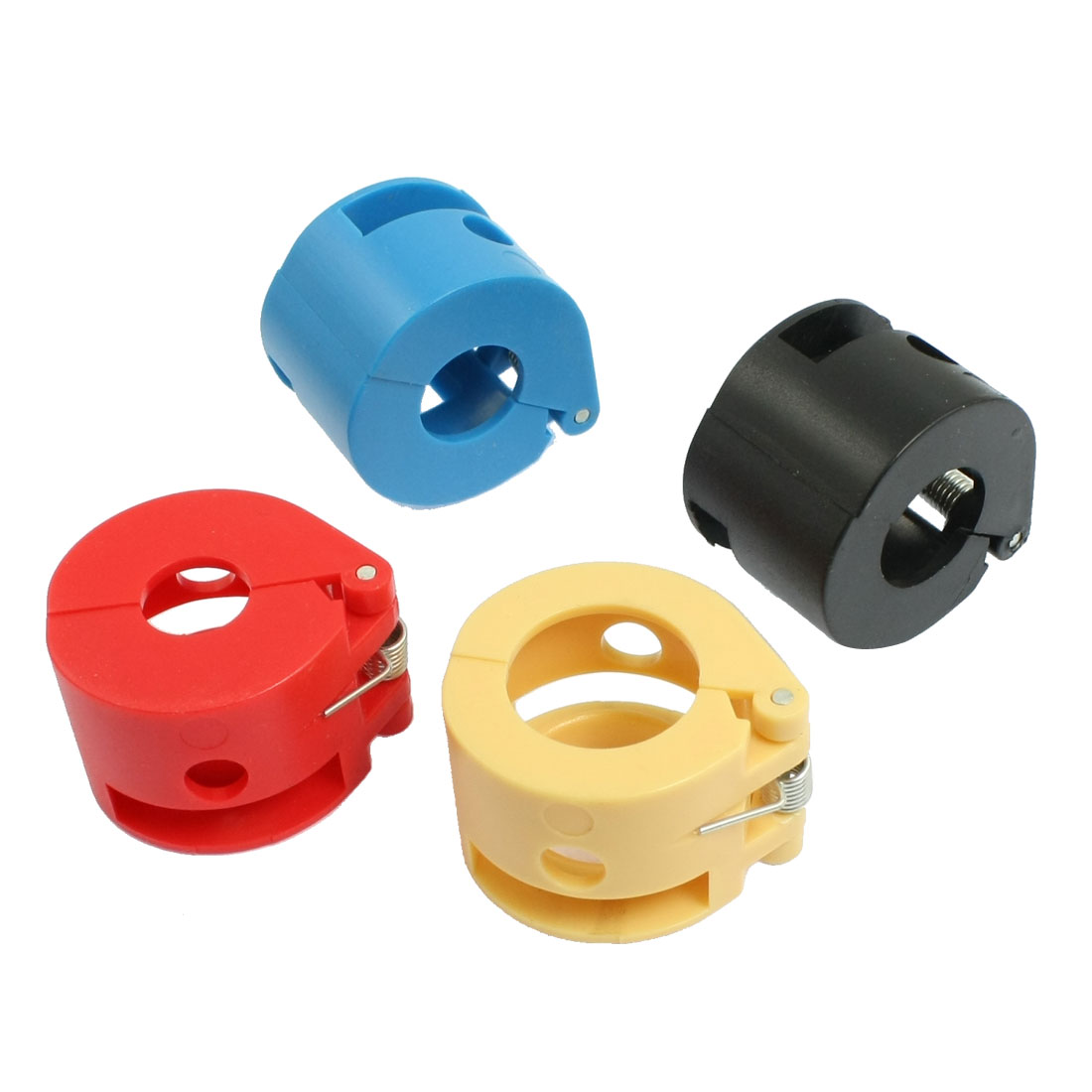 4 Pcs Assorted Color 18mm Diameter Cable Wiring Tubing Clamp Fastener