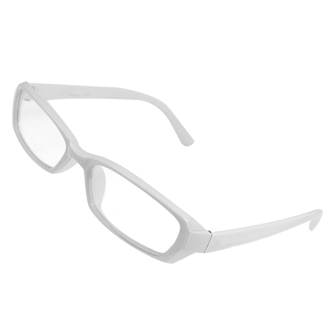 White Plastic Frame Full Rims Clear Lens Plain Eyeglasses Spectacles for Ladies