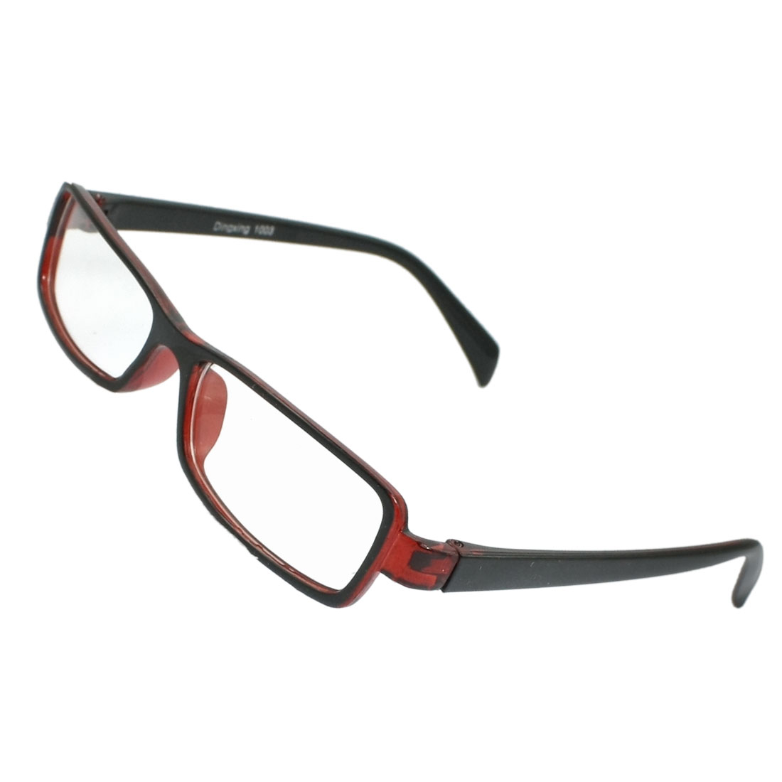 Men Women Full Frame Clear Lens Plano Plain Glasses Black Red