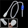 Blue Plastic Hand Press Water Tank Draining White Tube Drain Hose
