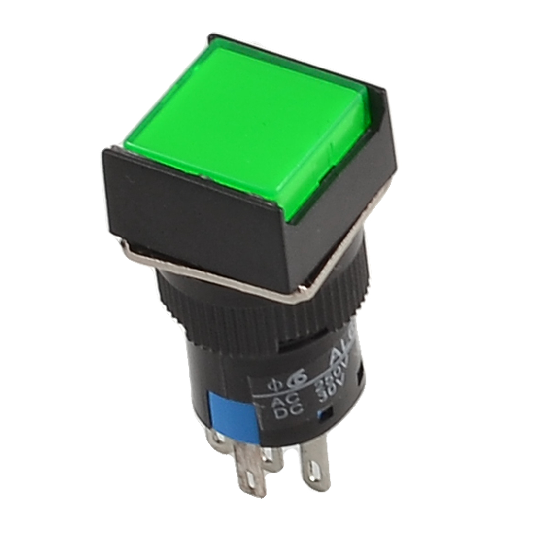 Green LED Lamp SPDT Momentary NO NC Push Button Switch 24V