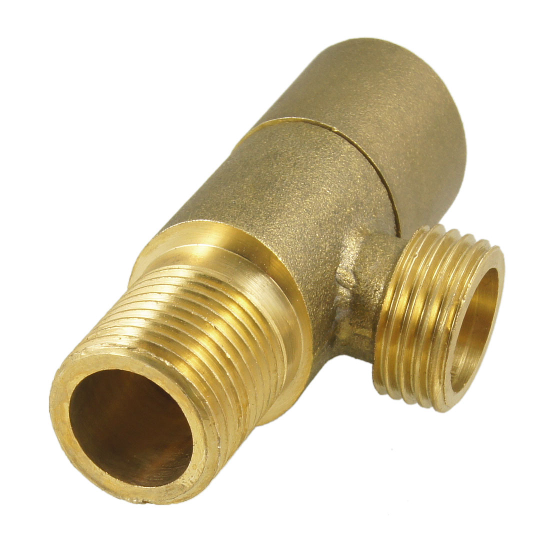 "PT 1/2"" Thread Quarter Turn 2-Way Brass Tone Angle Stop Valve"