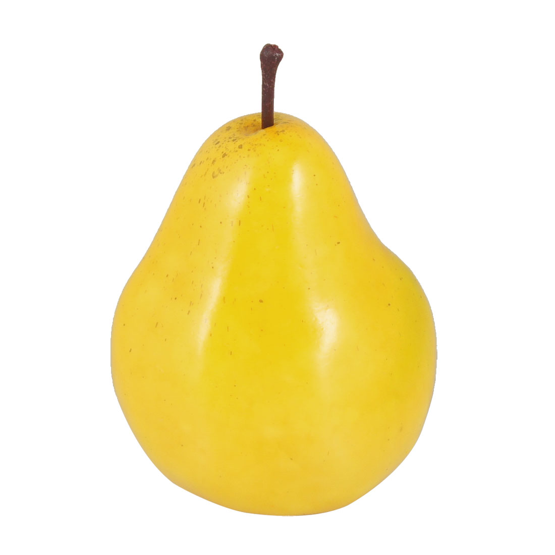 Home Cabinet Detail Yellow Emulational Foam Pear Fruit Decoration 12cm High