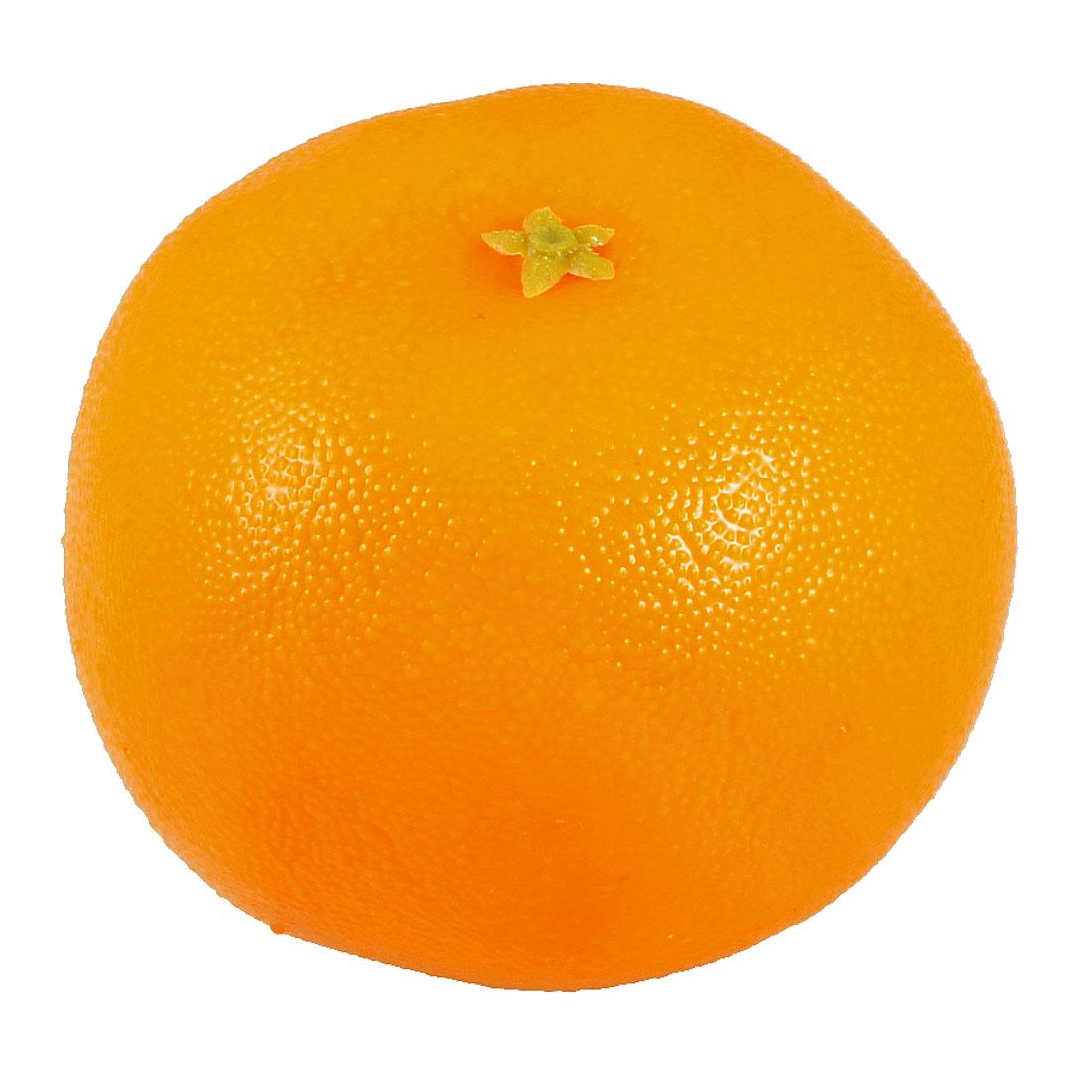 8cm Dia Foam Emulational Mandarin Orange Fruit Home Table Adorn