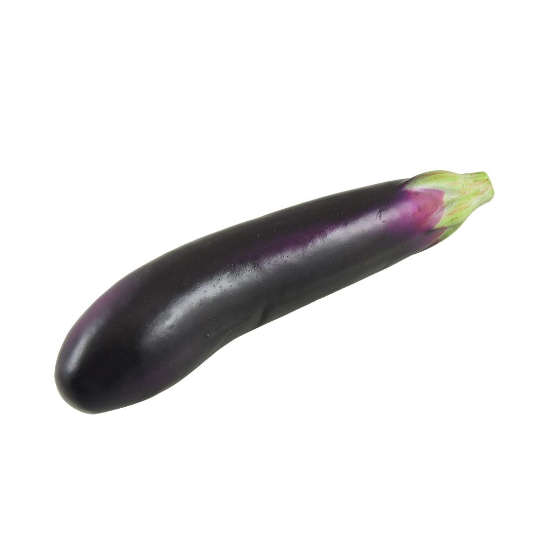 House Table Ornament Foam Eggplant Vegetable Display Centerpiece Dark Purple