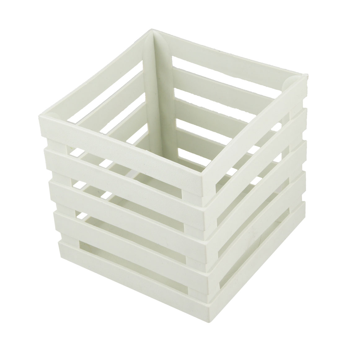 103mm Long White Square Plastic Fence Garden Flower Barrels Home Decor