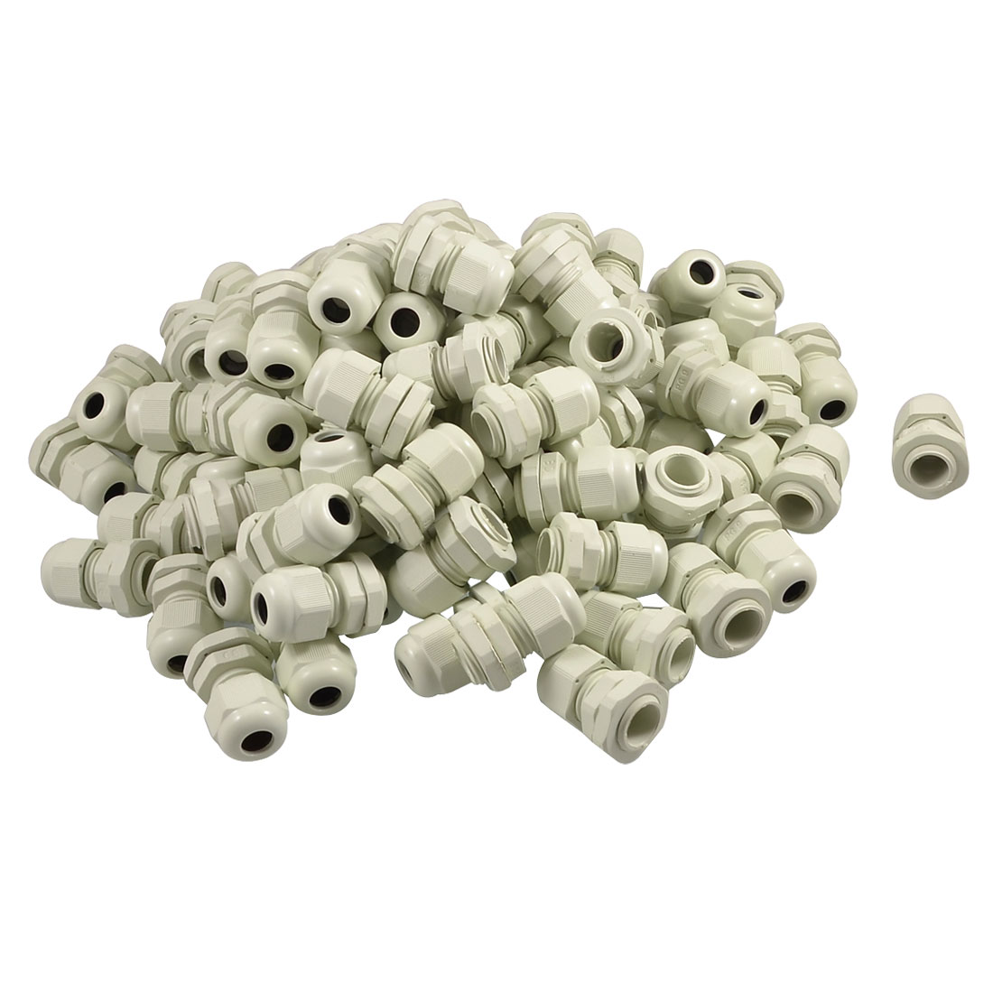 4mm-8mm White Plastic Waterproof Cable Gland Connector 100 Pcs