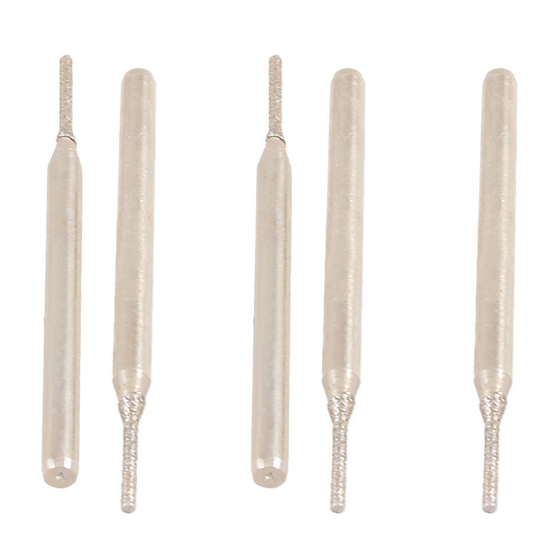 5 Pcs 3mm Shank 1mm Dia Cylindrical Tip Diamond Mounted Points