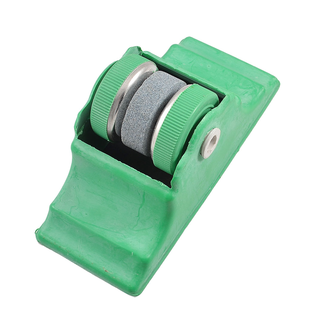 Home Kitchen Green Round Cutter Grit Lapped Sharpening Whetstone