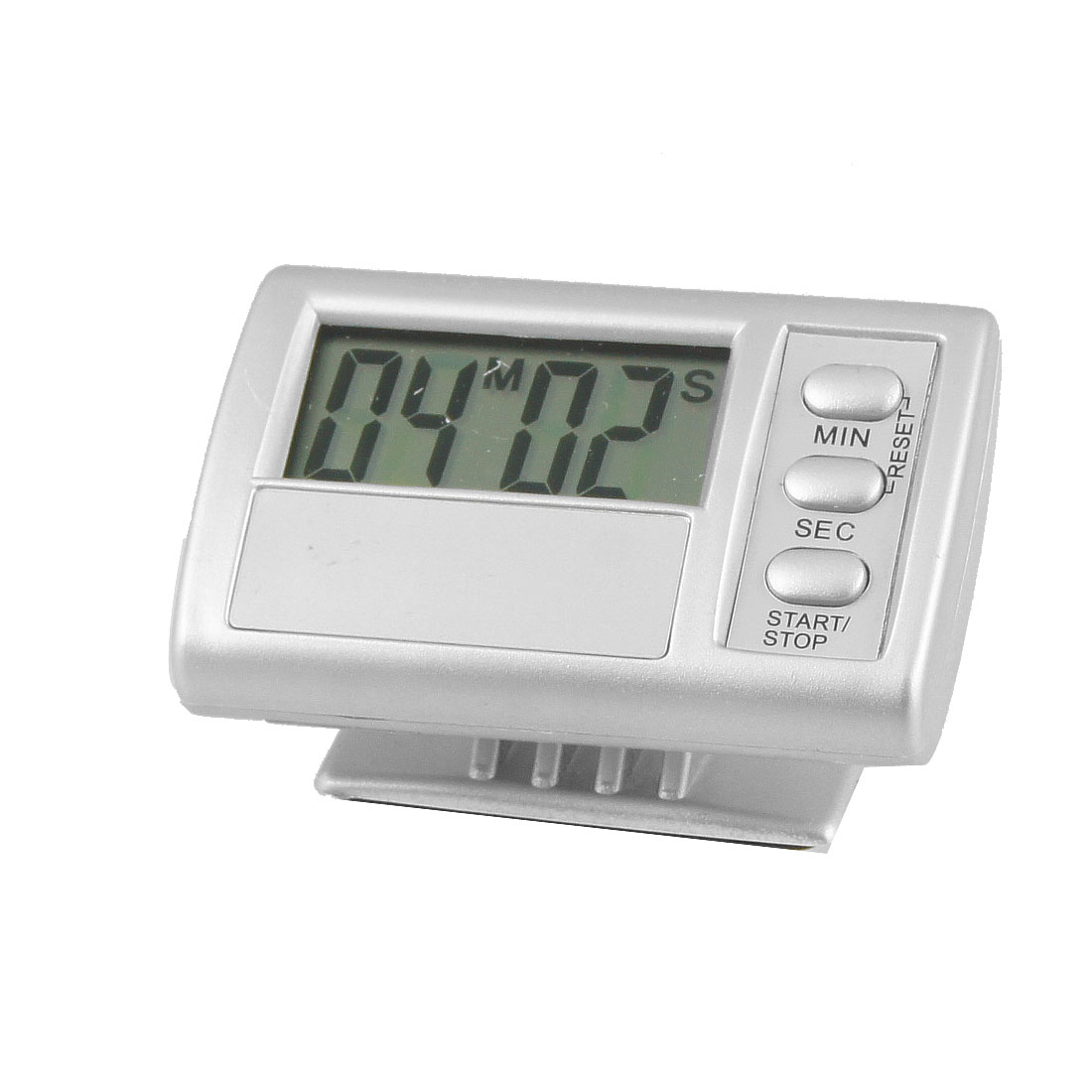 Home Rectangular Adhesive Digital LCD 99 Minute 59 Second Count Down Alarm Timer w Support