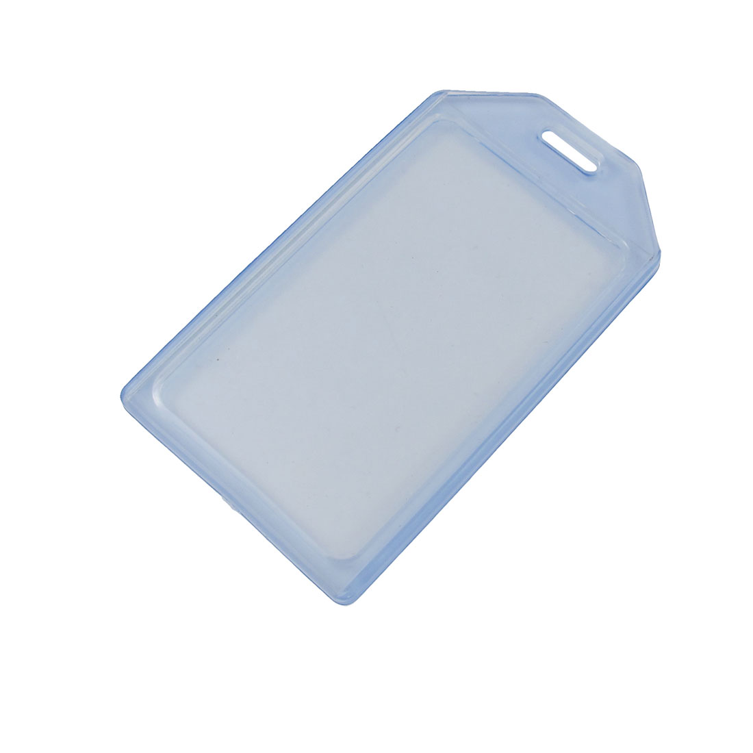 5 Pcs Soft Plastic Vertical Business ID Card Holder Clear Blue