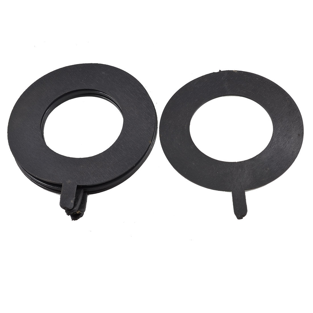 5x Auto Black Rubber Sealing Gaskets Cushions 97mm x 57mm x 2mm