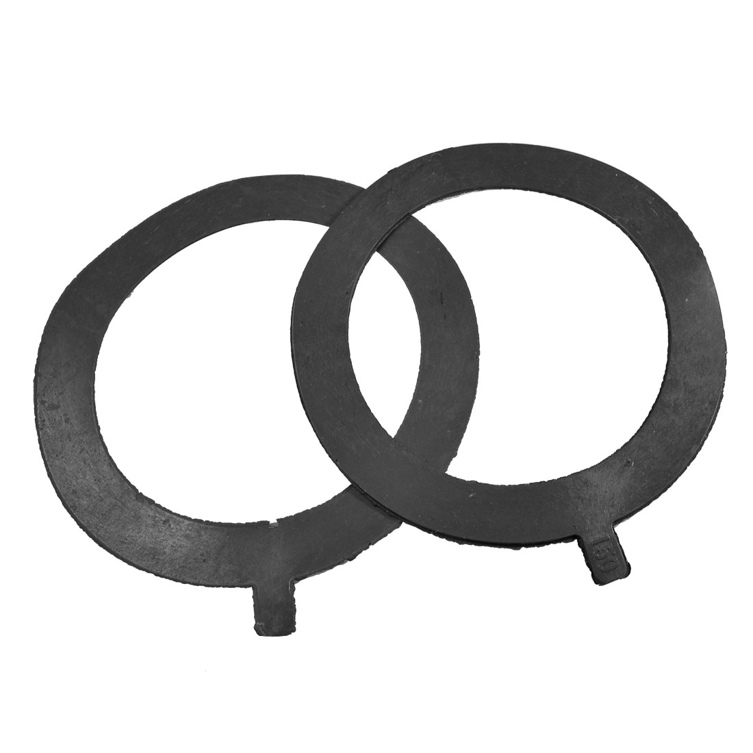 Water Pump Pipe Valves 200mm x 150mm x 2.4mm Rubber Seal Gaskets 2pcs