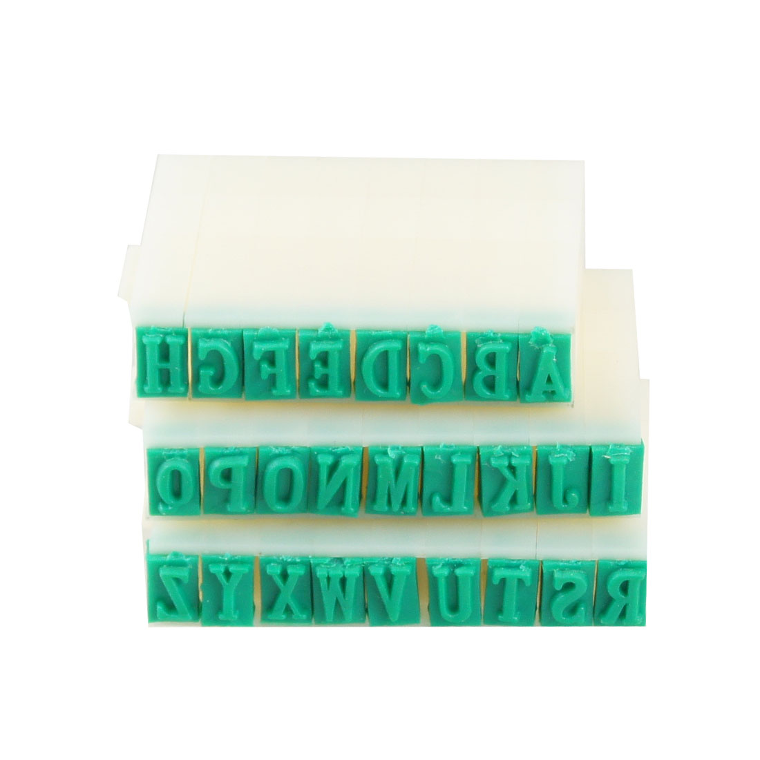 Office Plastic 26 in 1 Green Combination English Alphabet Stamp