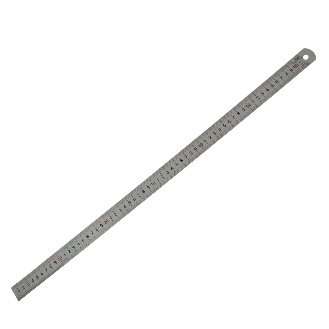 Marked Metric 60cm Stainless Steel Straight Ruler Measuring Tool