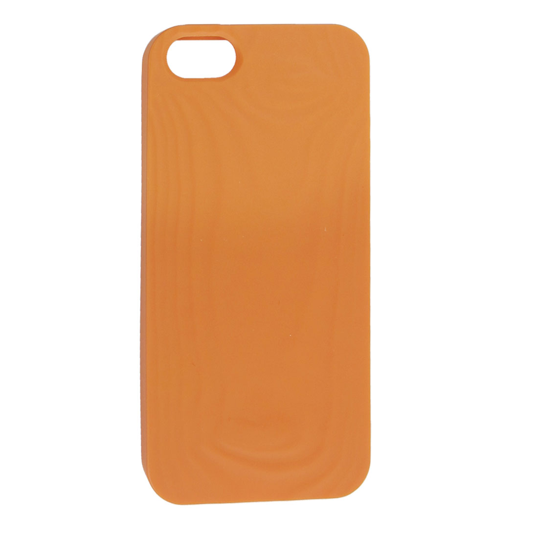 Orange Soft Plastic Embossed Protective Back Case Guard Housing for iPhone 5 5G