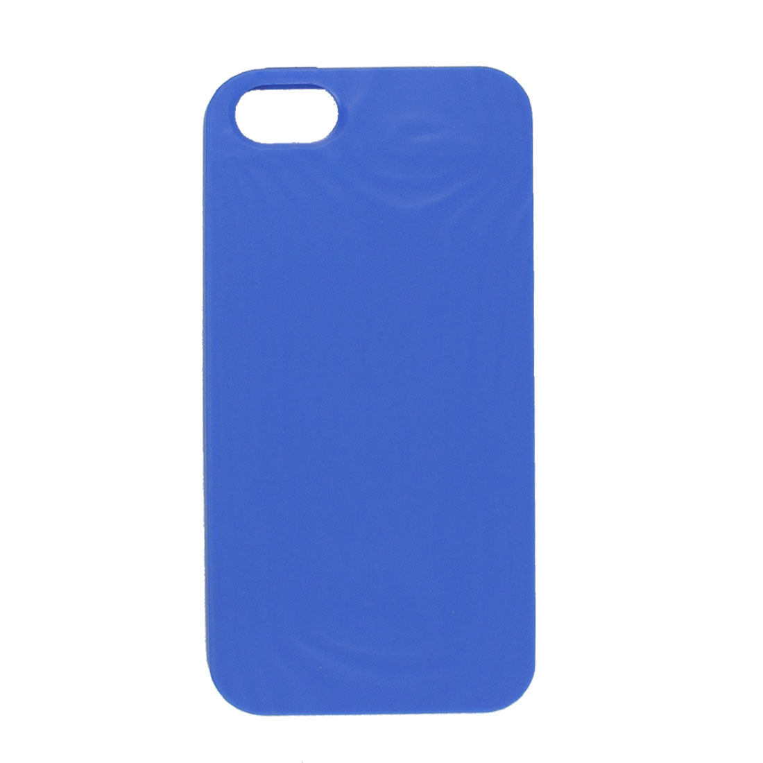 Blue Soft Plastic Embossed Protective Back Case Shell Housing for iPhone 5 5G