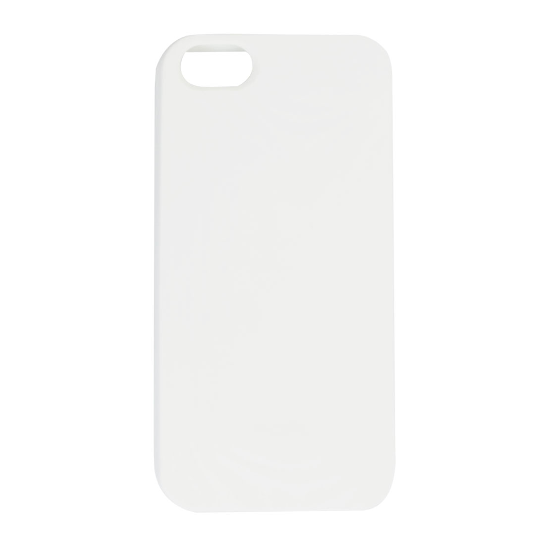 White Soft Plastic Embossed Protective Back Cover Case Shell for iPhone 5 5G