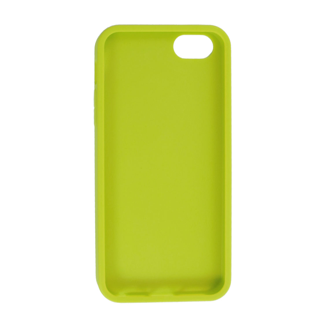 Yellow Green Soft Plastic Embossed Protective Back Cover Case for iPhone 5 5G
