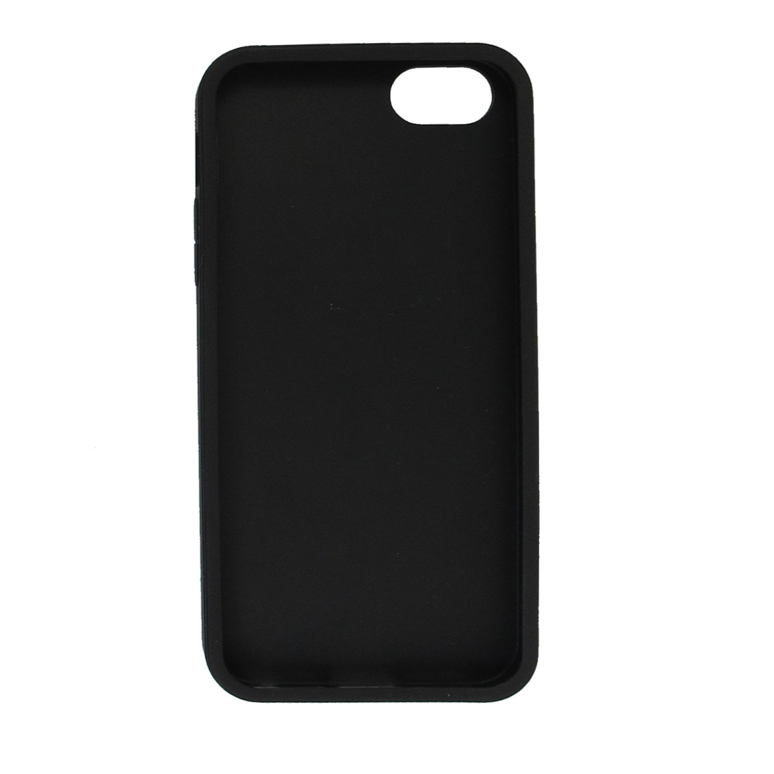 Black Soft Plastic Patterned Protective Back Cover Case Shield for iPhone 5 5G