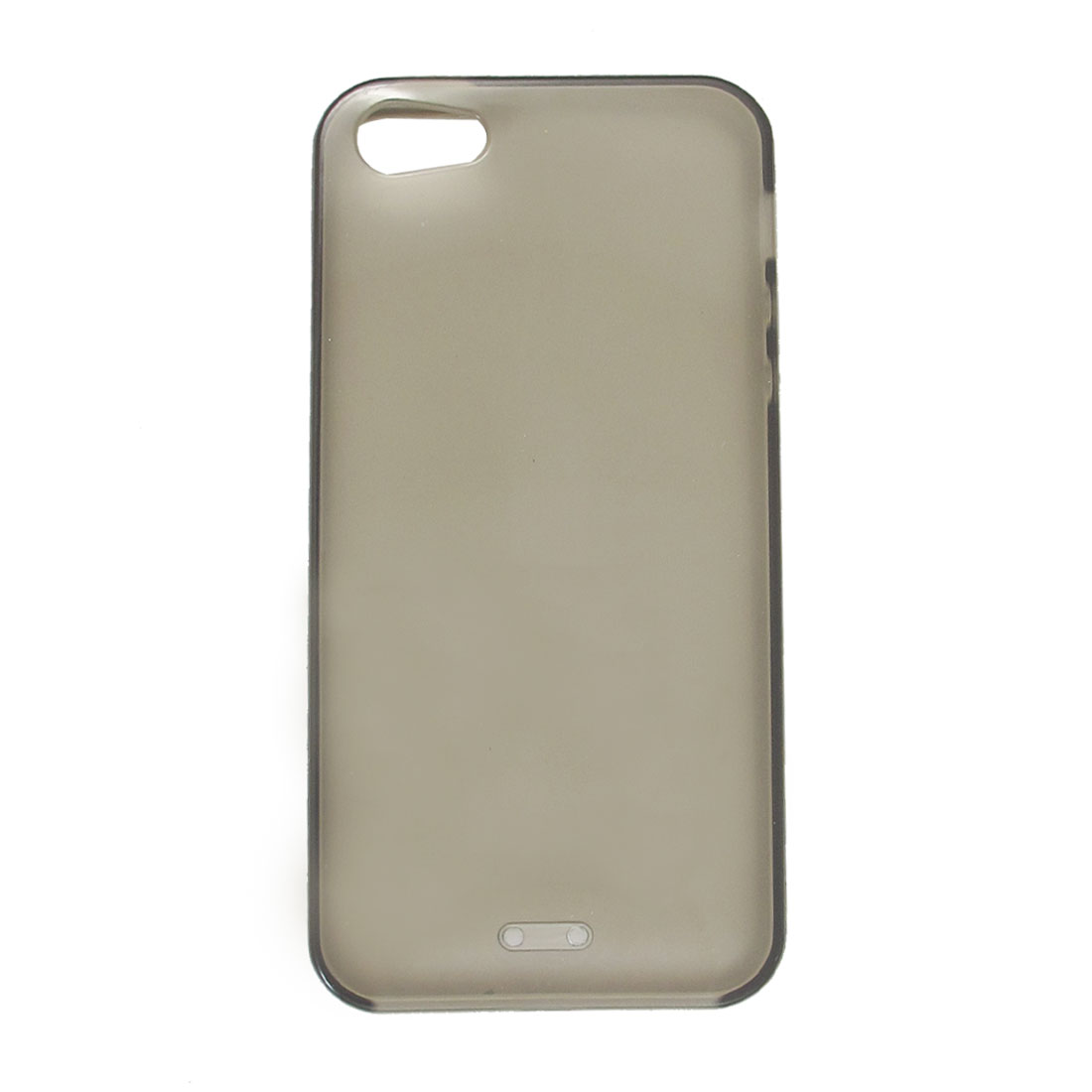 Clear Gray Soft Plastic TPU Protective Back Case Cover for Apple iPhone 5 5G