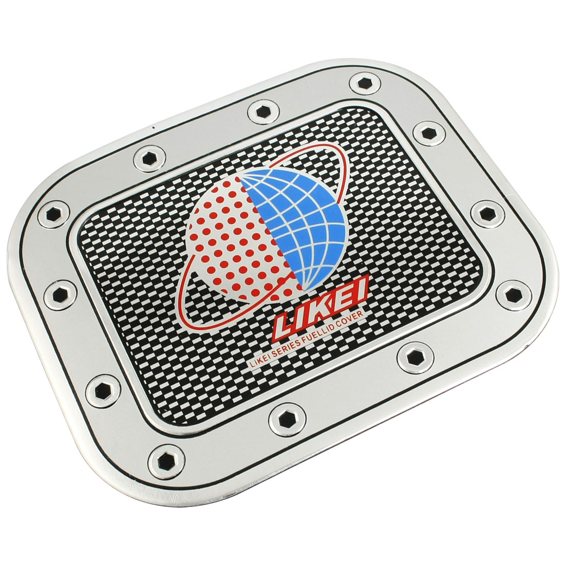 Blue Red Global Pattern Truck Car Fuel Tank Cap Sticker Decal